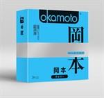 Презервативы в обильной смазке OKAMOTO Skinless Skin Super lubricative - 3 шт. - фото 313200