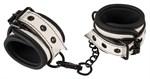 Черно-белые наручники на цепочке - фото 1160359