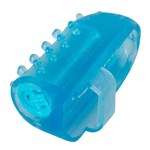 Голубая насадка на палец с вибрацией One-time Finger Vibrator - фото 253404