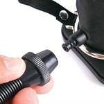 Черный полый увеличивающийся страпон с вибрацией Inflatable Vibrating Hollow Silicone Strap-On - 20 см. - фото 255570