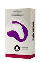 Фиолетовый вибратор для пар Mini Romeo - фото 149472