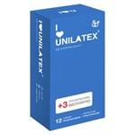 Классические презервативы Unilatex Natural Plain - 12 шт. + 3 шт. в подарок - фото 1663489