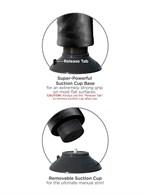 Двойной чёрный вибратор со съемной присоской Double Vibrating Double Penetrator - 20,3 см. - фото 187408