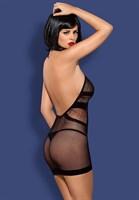 Сексуальное платье-сетка с воротником-петлёй - фото 1258622