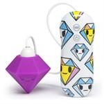 Фиолетовый клиторальный стимулятор-бриллиант SILICONE PURPLE DIAMOND CLITORAL VIBRATOR - фото 466571