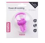 Розовое виброколечко для пениса Power Rabbit Clit Cockring - фото 1259010