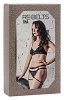 Чёрные кожаные гартеры Fina Black - фото 1161956