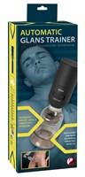 Мини-помпа с эффектом посасывания и вибрацией Automatic Glans Trainer - фото 1162119