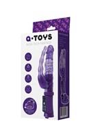 Фиолетовый анально-вагинальный вибратор на присоске A-toys - фото 651271