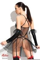 Оригинальное платье Yvone с прозрачным подолом - фото 1162613