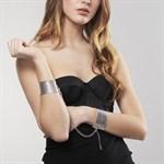 Серебристые наручники-браслеты Desir Metallique Handcuffs - фото 1665187