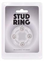 Эрекционное кольцо Stud Ring с бусинами - фото 1162820