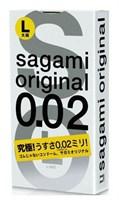 Презервативы Sagami Original 0.02 L-size увеличенного размера - 3 шт. - фото 1163111