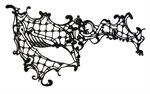 Оригинальная асимметричная маска из нитей - фото 227467