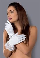 Короткие перчатки Etheria с оборками из тонкого цветочного кружева - фото 227674