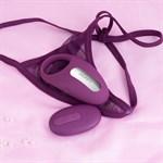 Фиолетовое эрекционное кольцо Winni Violet с вибрацией и пультом ДУ - фото 1200615