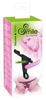 Розовый страпон на трусиках с регулируемыми бретелями Smile - 16 см. - фото 1164197