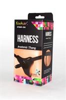 Чёрные трусики с плугом Kanikule Strap-on Harness Anatomic Thong - фото 1164233