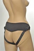Чёрные трусики-джоки Kanikule Strap-on Harness universal Comfy Jock с плугом и кольцами - фото 653140