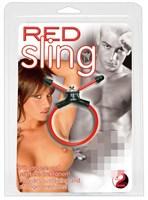 Красное эрекционное лассо Red Sling - фото 1164243
