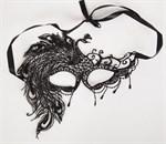 Карнавальная кружевная маска с жар-птицей - фото 1164463