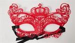 Кружевная маска в венецианском стиле с маленькой короной - фото 1164465
