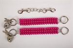 Наручники из ярко-розовых бус - фото 1164540
