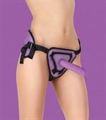 Фиолетовый страпон Deluxe Silicone Strap On 8 Inch - 20 см. - фото 211419