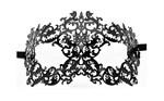 Чёрная металлическая маска Forrest Queen Masquerade - фото 171404