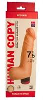 Телесный вибромассажёр HUMAN COPY 7,5  - 19 см. - фото 1535123