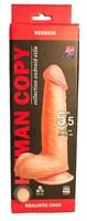 Телесный фаллоимитатор HUMAN COPY 5,5  - 17 см. - фото 199247