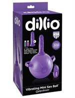 Фиолетовый надувной мяч с вибронасадкой Vibrating Mini Sex Ball - 15,2 см. - фото 1164891