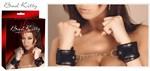 Чёрные наручники на цепочке с карабином Handfesseln  - фото 1165420