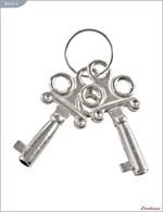 Металлические наручники с чёрным мехом и ключиками - фото 1165661