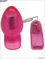 Розовая вибропробка с выносным пультом - 11 см. - фото 1165715
