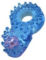 Кольцо с клиторальным язычком и шипиками - фото 1165869
