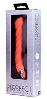Оранжевый силиконовый G-вибратор PURRFECT SILICONE G-SPOT VIBRATOR - 17,7 см. - фото 1167760