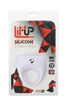 Белое эрекционное кольцо LIT-UP SILICONE STIMU RING 7 - фото 1167882