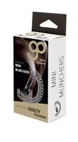 Зажимы на соски Mini Munchers Nipple Clamps с цепью - фото 1168278