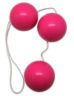 Розовые тройные вагинальные шарики - фото 232408