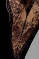 Пеньюар Brida с полупрозрачной цветочной вставкой на спинке - фото 232850