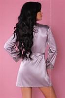 Роскошный ночной комплект Jacqueline: пеньюар, сорочка и трусики-стринги - фото 81876