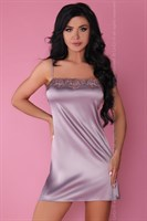 Роскошный ночной комплект Jacqueline: пеньюар, сорочка и трусики-стринги - фото 233166