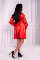 Роскошный ночной комплект Jacqueline: пеньюар, сорочка и трусики-стринги - фото 81880
