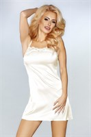 Роскошный ночной комплект Jacqueline: пеньюар, сорочка и трусики-стринги - фото 233157