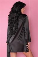Роскошный ночной комплект Jacqueline: пеньюар, сорочка и трусики-стринги - фото 81872