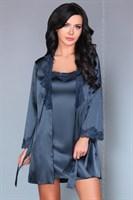 Роскошный ночной комплект Jacqueline: пеньюар, сорочка и трусики-стринги - фото 81873