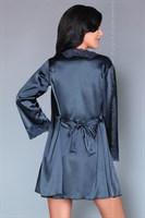 Роскошный ночной комплект Jacqueline: пеньюар, сорочка и трусики-стринги - фото 81874