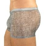 Серые тонкие мужские трусы-хипсы - фото 1169265
