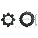 Набор ребристых эрекционных колец Ring Flowering - фото 1169778